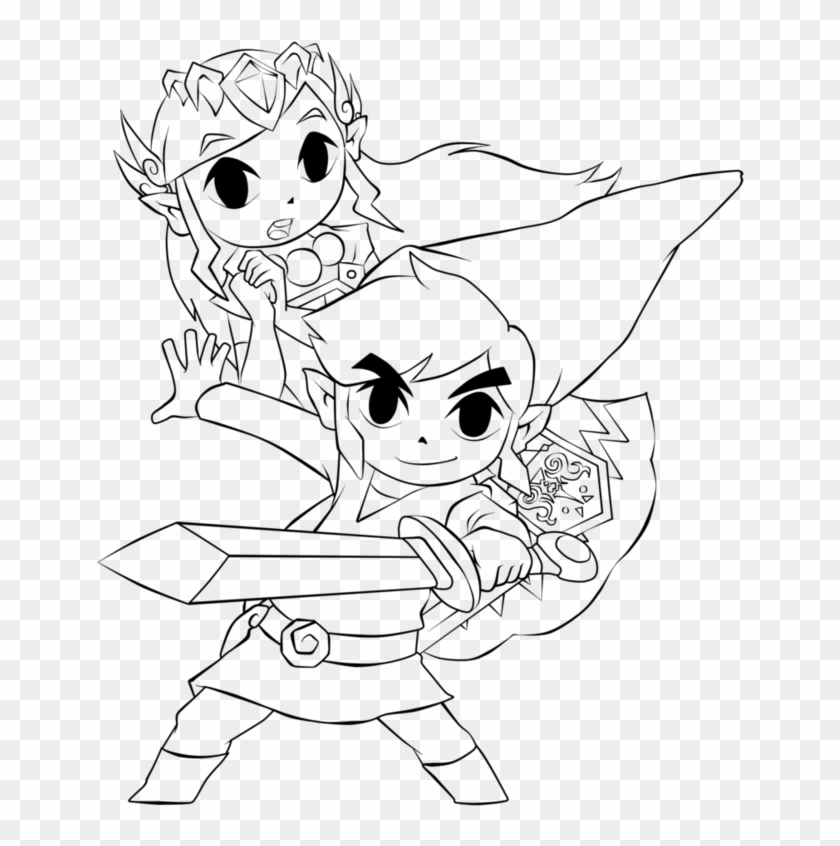 Interesting Ideas Link Coloring Pages Toon Zelda ...