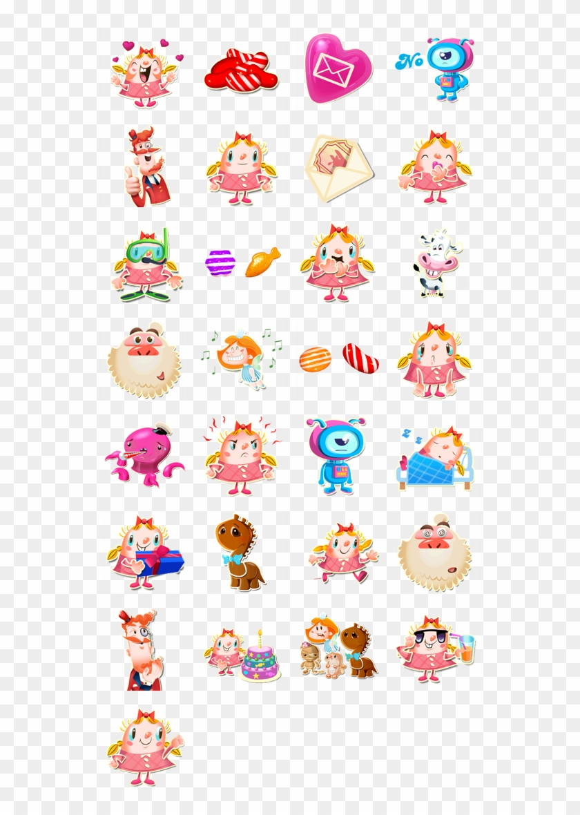 Candy Crush Facebook Stickers - Characters Candy Crush