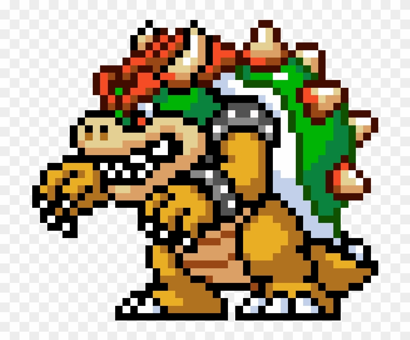 bowser super mario bros 3 pixel art