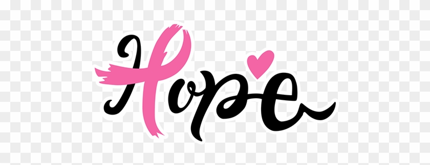 Hope Women Breast Cancer Pink Ribbon Calligraphy Hd Png