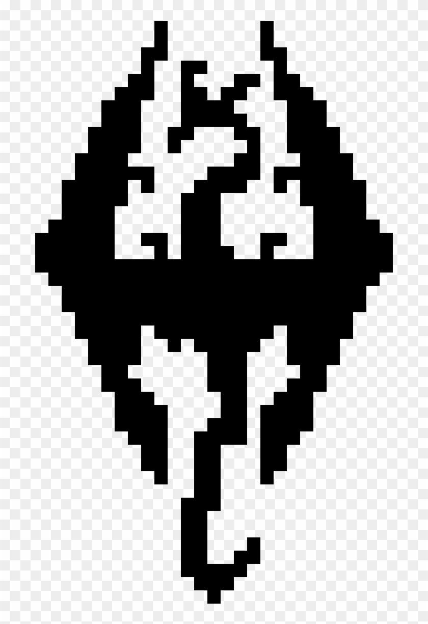 Skyrim symbol pixel art anime easy hd png download