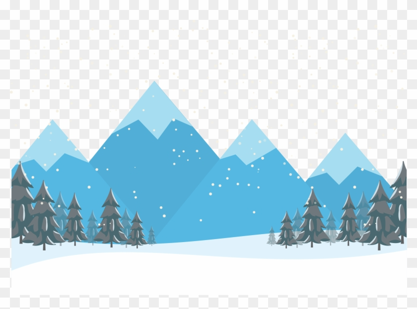 Mountain snow. Cartoon transprent png free