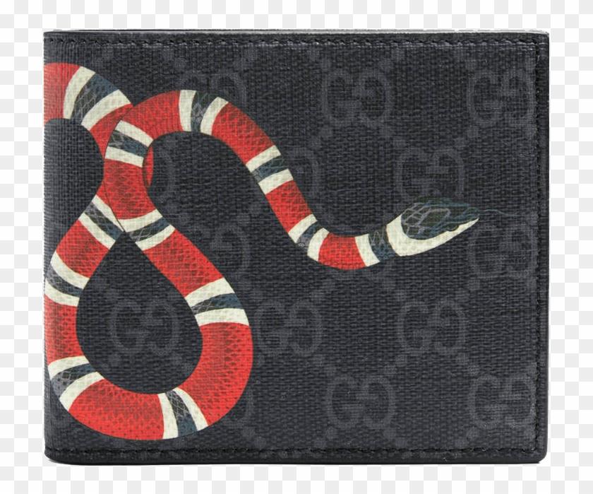 594fd27dba16 Gucci Kingsnake Print Gg Supreme Wallet - Kingsnake Print Gg Supreme Wallet,  HD Png Download