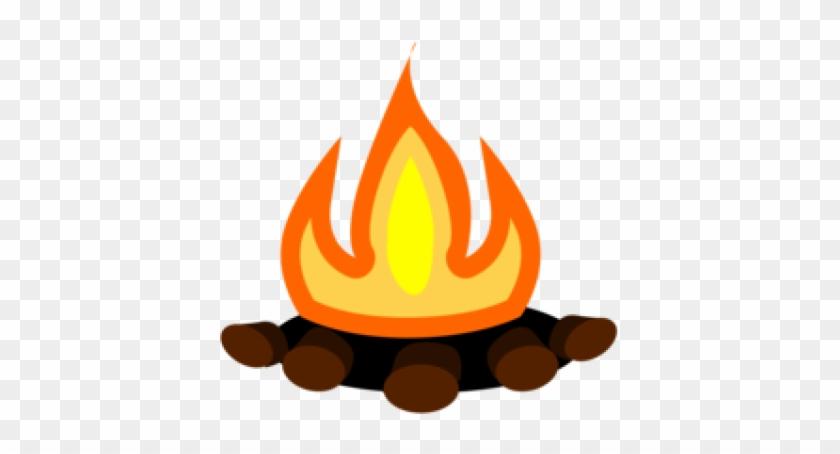 Drawn Camp Fire Emoji - Camp Fire Clipart Png, Transparent