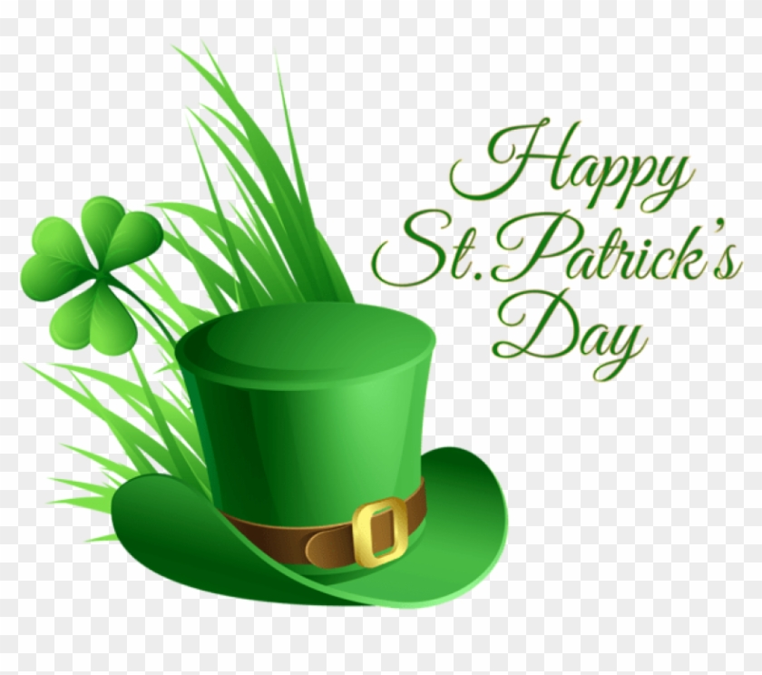 Free Png Download St Patricks Day Hat And Shamrock Happy St Patricks Day Transparent Png 850x672 398743 Pngfind