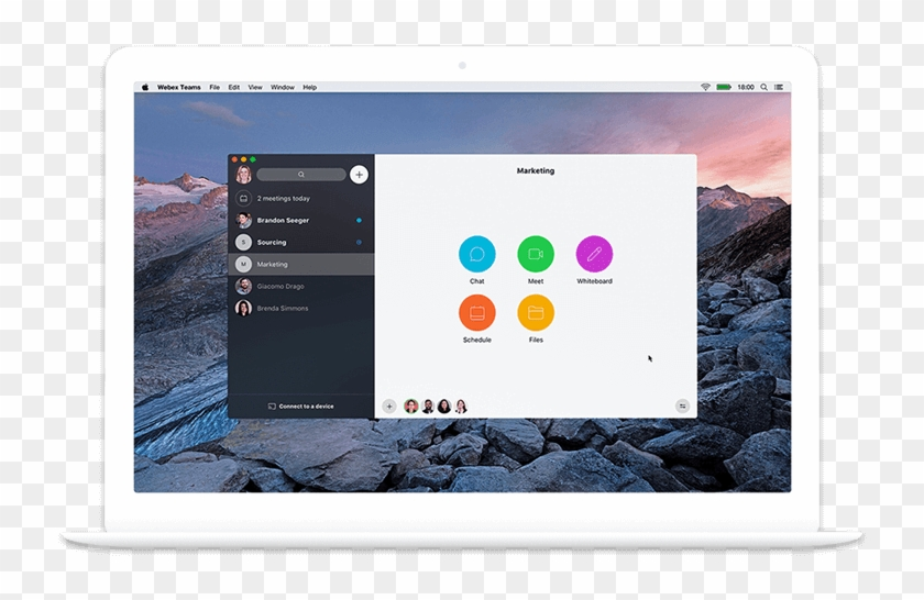 Cisco Webex Teams Platform On Laptop - Cisco Webex, HD Png Download
