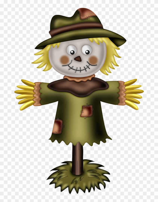 Fall scarecrow. Clip art tree