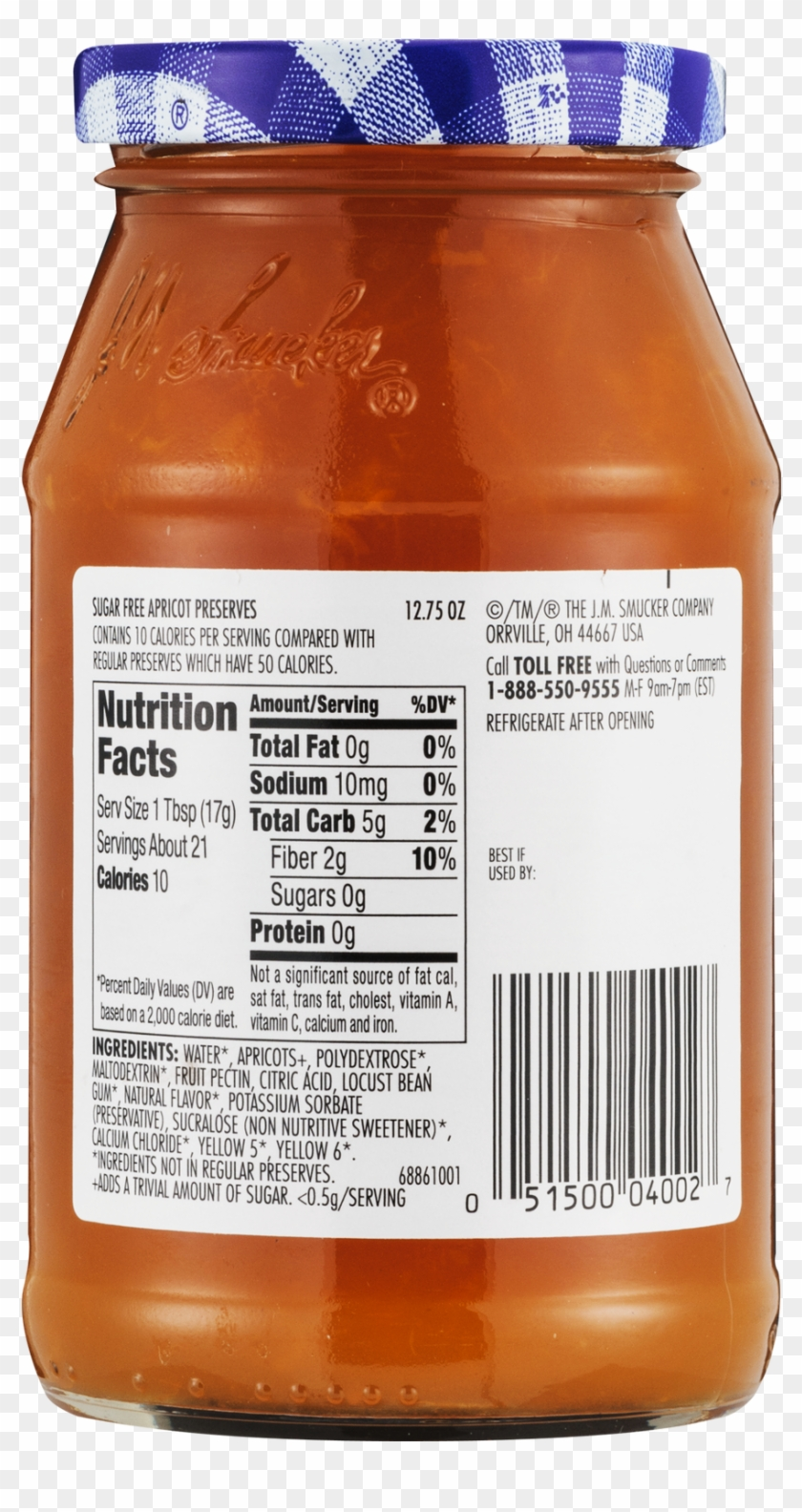 Sugar Free Jelly Nutrition Label