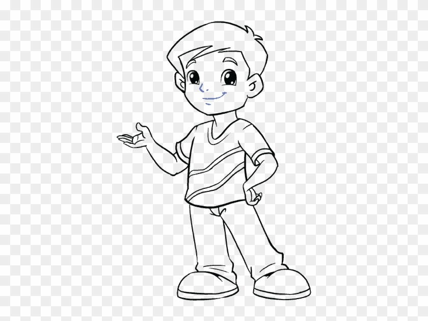 Cartoon Boy Draw A Boy Easy Hd Png Download 678x600 3950228 Pngfind