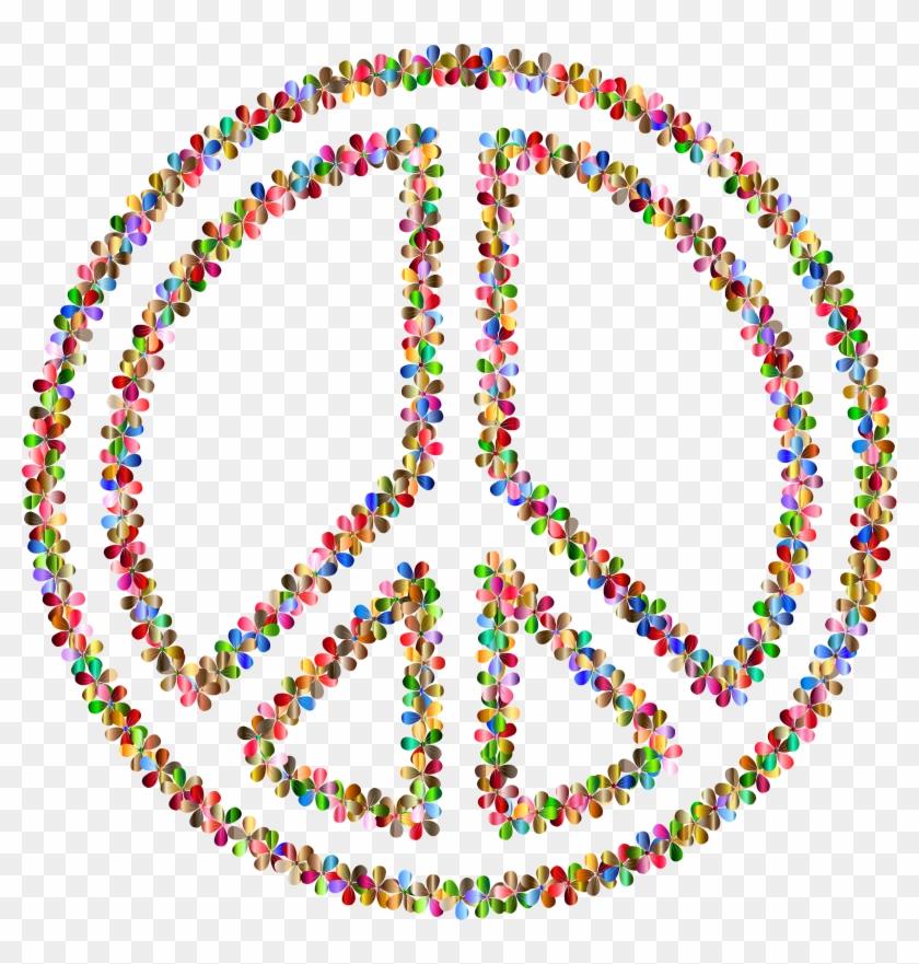 Coloring Book Hippie Peace Symbols Flower Child - Peace Sign