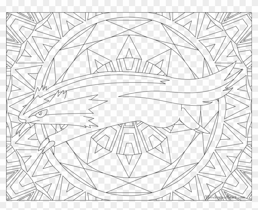264 Linoone Pokemon Coloring Page Coloriage Pokemon Mandala Hd