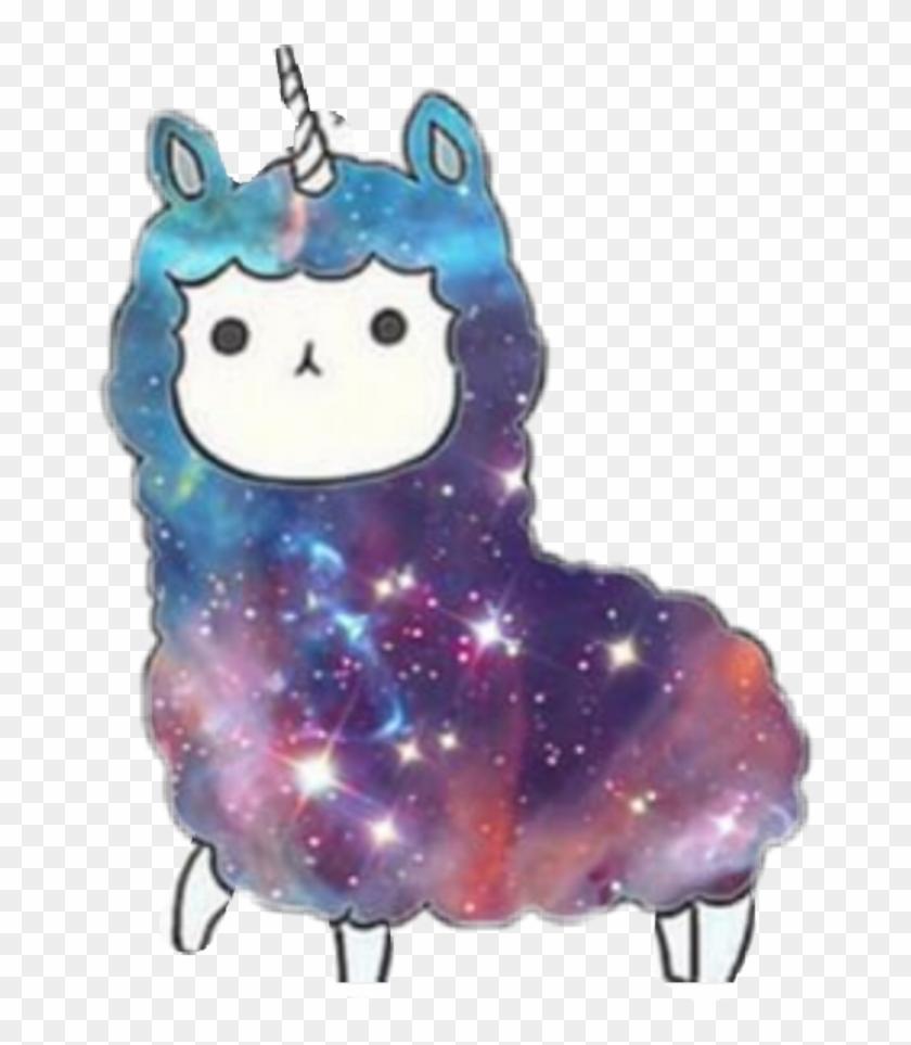 398 3982917 freetoedit llamacorn kawaii llama unicorn galaxy hd png