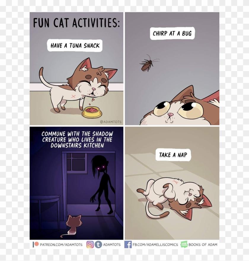 Clean Memes 03 31 2019 Morning Fun Cat Activities Comic Hd Png