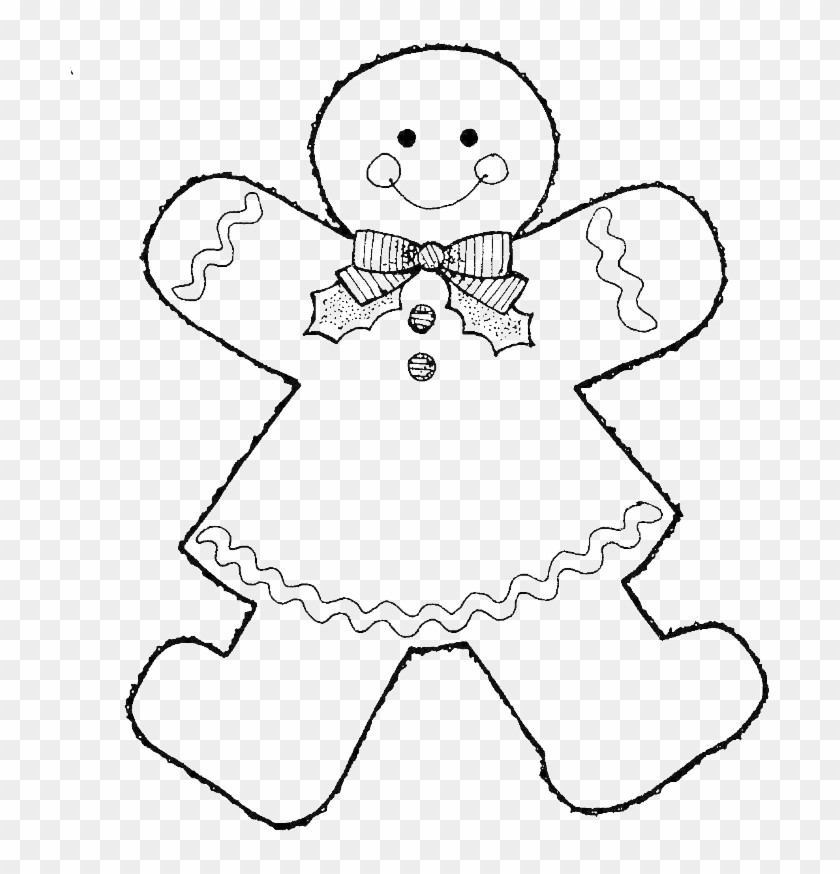 Printable Coloring Pages Gingerbread Man | 874x840