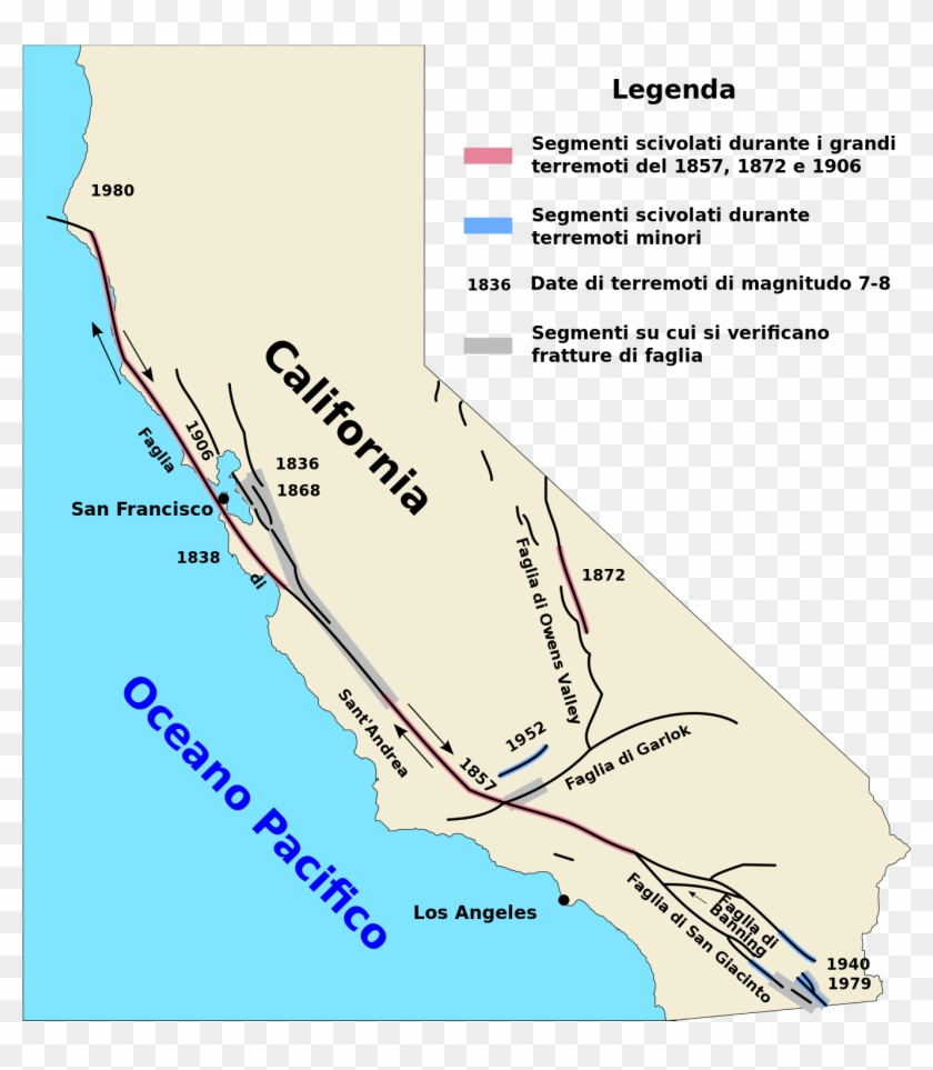 San Andreas Fault Map It - San Andreas Fault On Us Map, HD ...