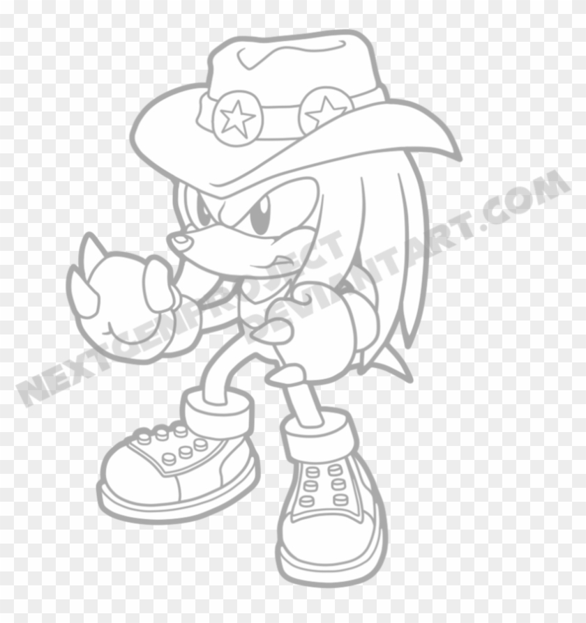 Sonic The Hedgehog Knuckles Coloring Pages Knuckles Para
