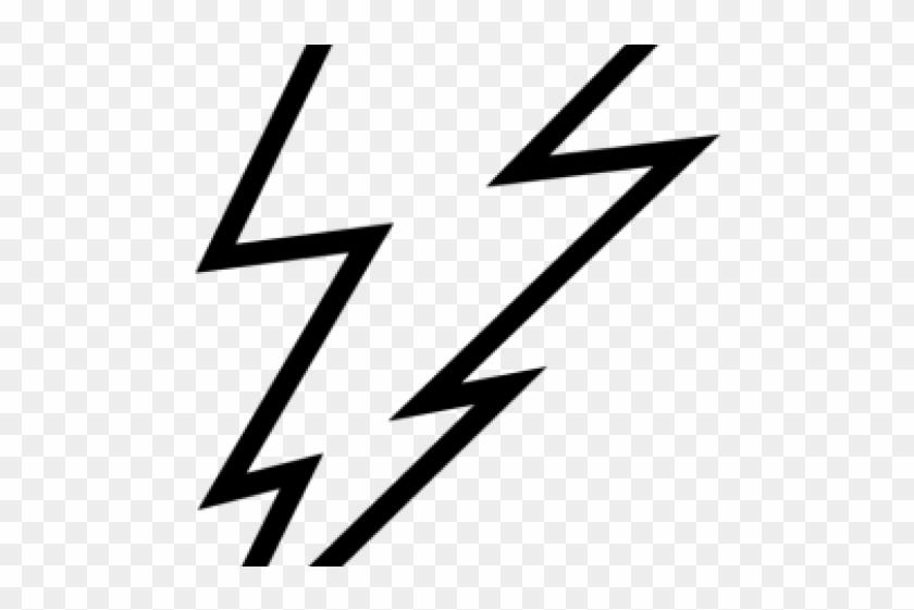Lightning bolt black. And white clip art