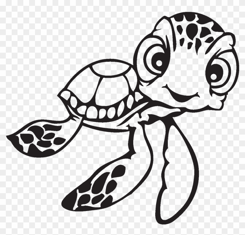 Sea Turtle Clipart Finding Nemo Drawing Sea Turtles Easy Hd Png