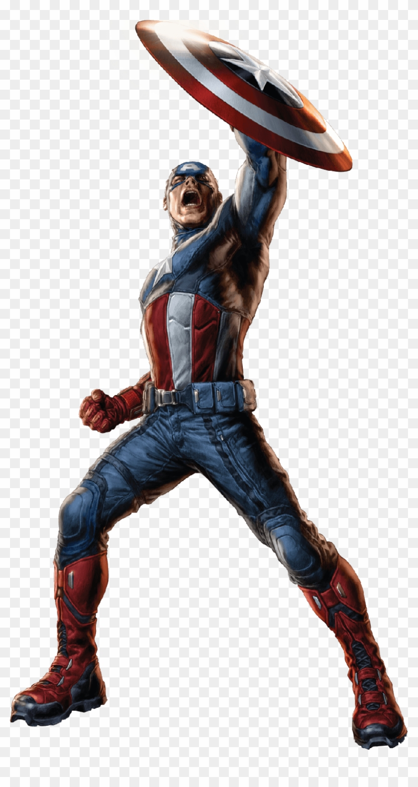 Captain America Shield Up Hd Png Download 819x1500 47407