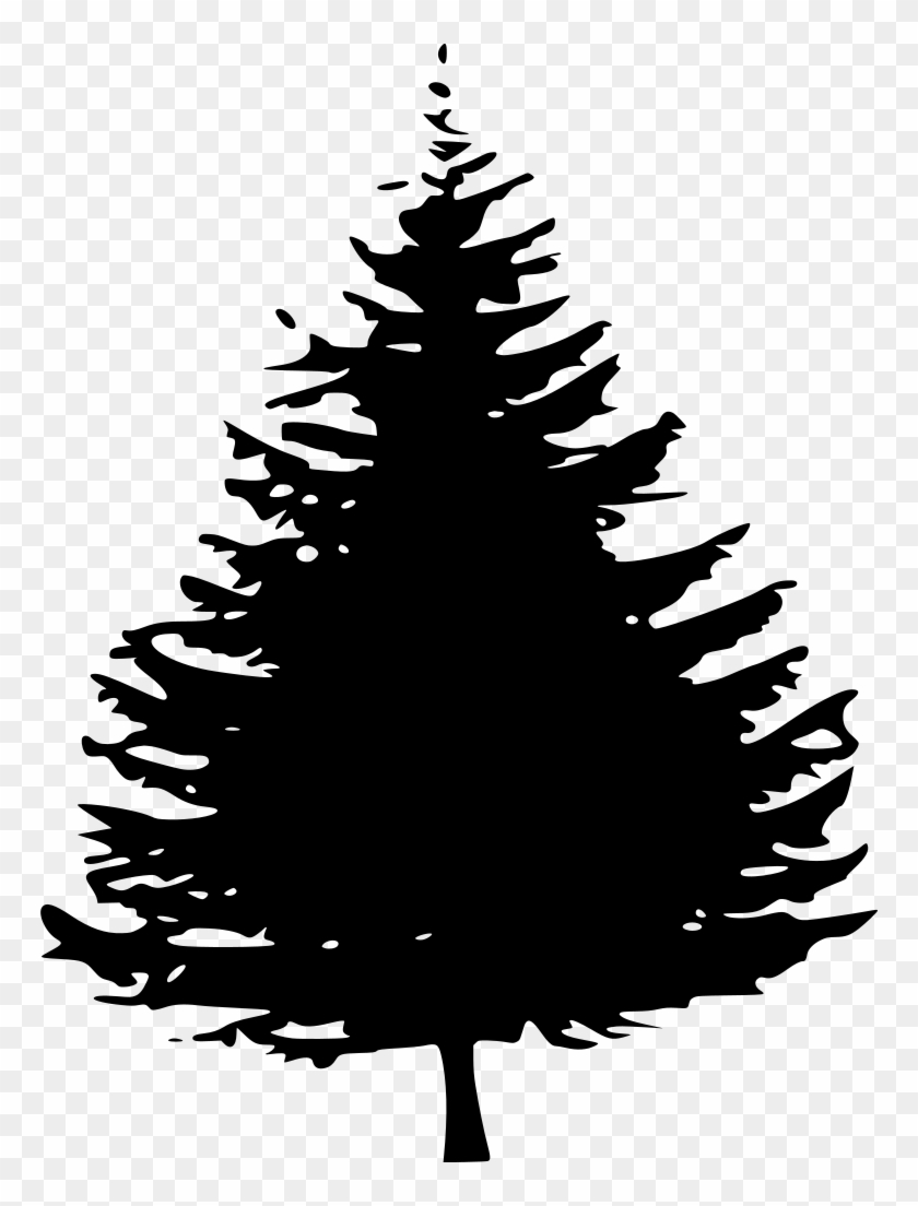 Pine Tree Silhouette Png Png Download Pine Tree Clipart Free