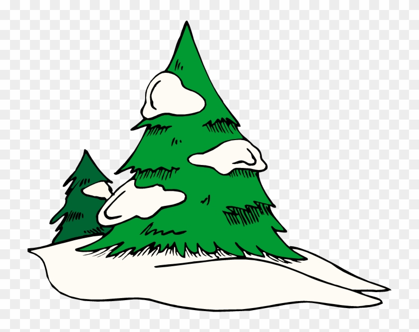 Snow tree. Pine clip art png