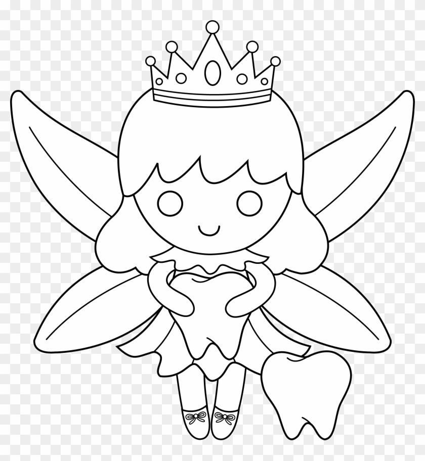 - Tooth Fairy Coloring Pages To Download And Print For - Draw A Tooth Fairy,  HD Png Download - 6436x6686(#49469) - PngFind
