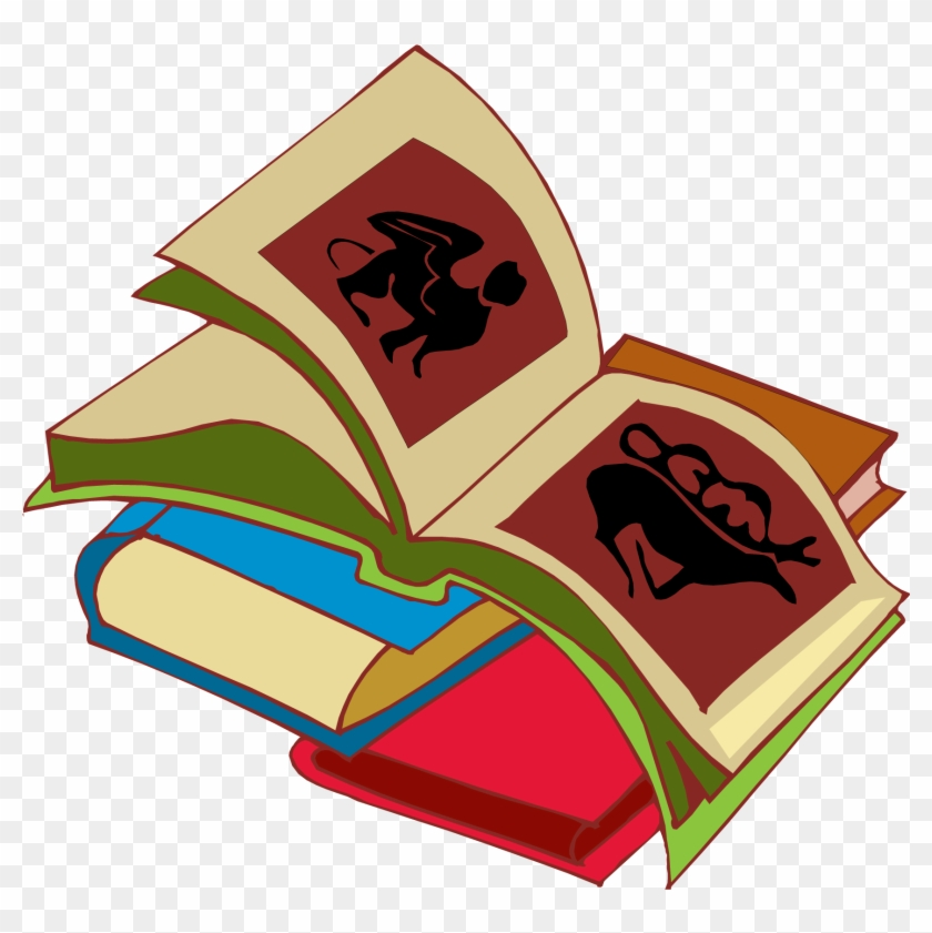 Book story. Stack of books clipart