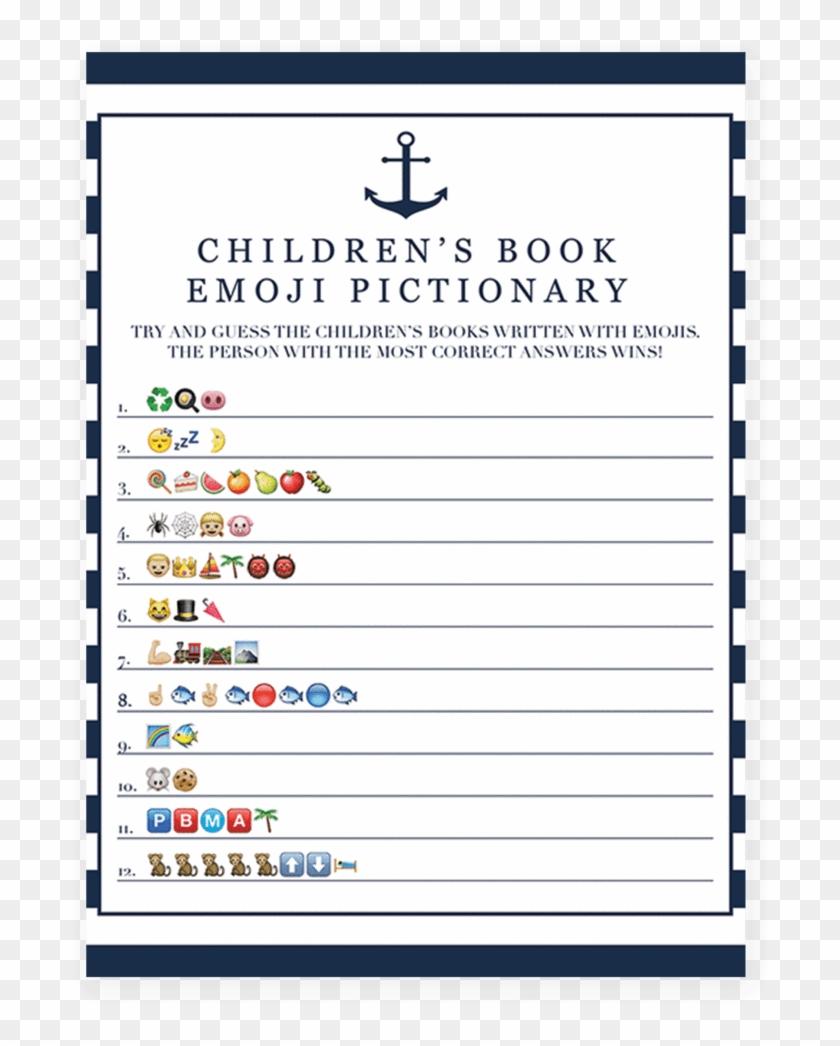 Books Emoji Png Emoji Pictionary Baby Shower Transparent Png
