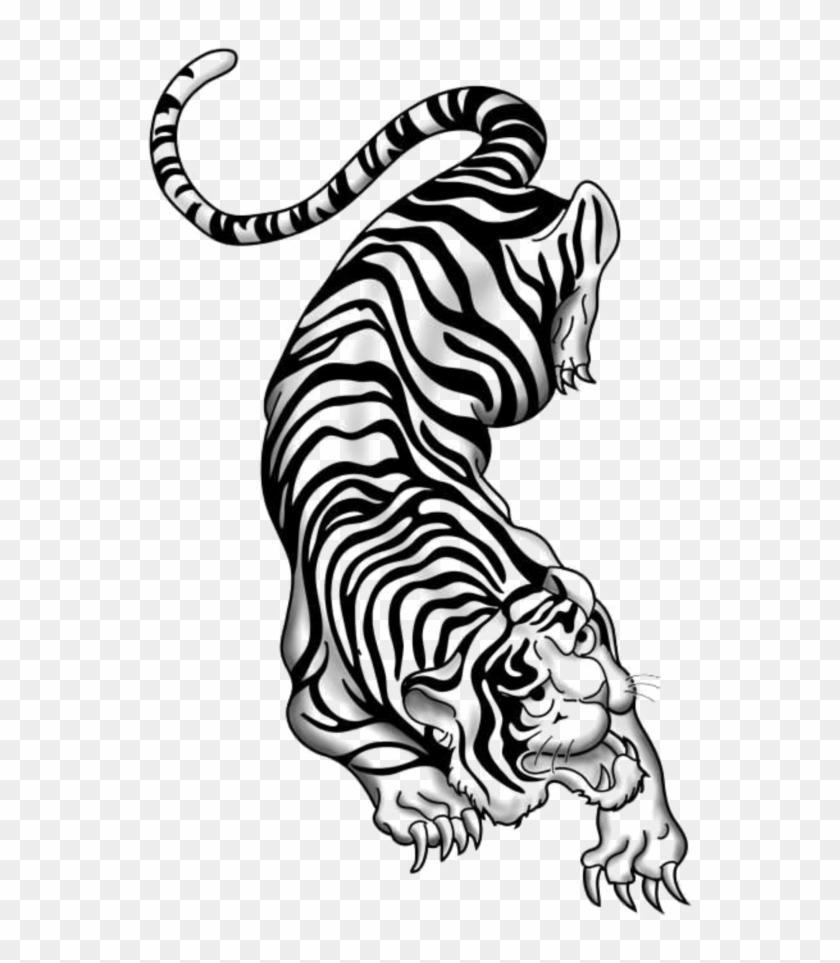 Mq Sticker Chinese Zodiac Tiger Tattoo Black And White Hd Png