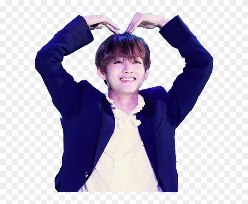 Bts Heart Png Bts V Cute Png Transparent Png 607x612 401434
