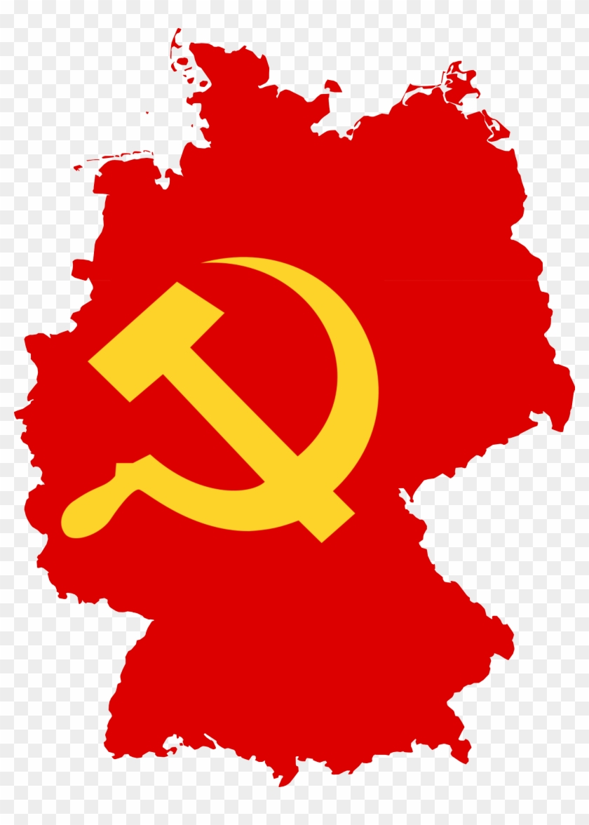 Flag Map Of Germany - Communist Germany Flag Map, HD Png ... German Flag Map on german flags of the world, germany map, state flags map, rhine river map, england map, german stereotypes, german world war 1 map, german state flags,