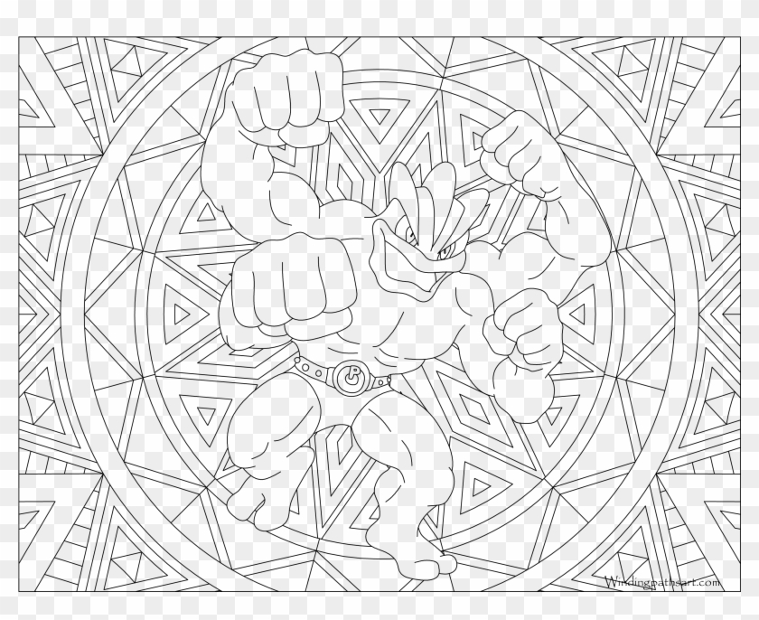 Pokemon Coloring Pages Machamp Adult Pokemon Coloring Pages Hd Png Download 3300x2550 4002464 Pngfind