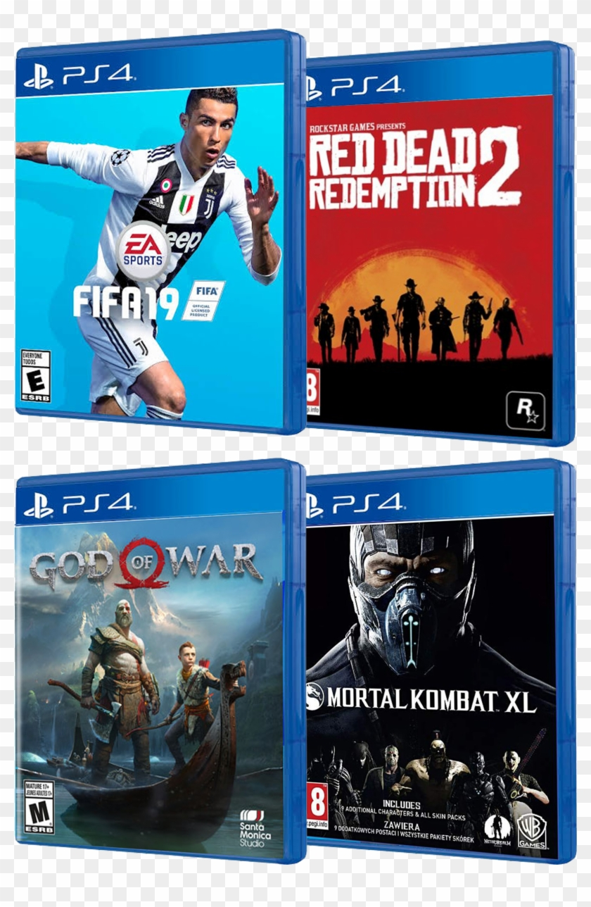 Red Dead Redemption Fifa 19 Mortal Kombat God Of War - Ps4