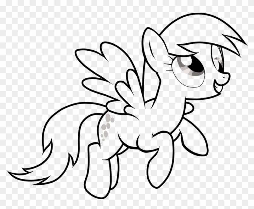 Derpy My Little Pony Coloring Page Derpy Hooves Hd Png Download