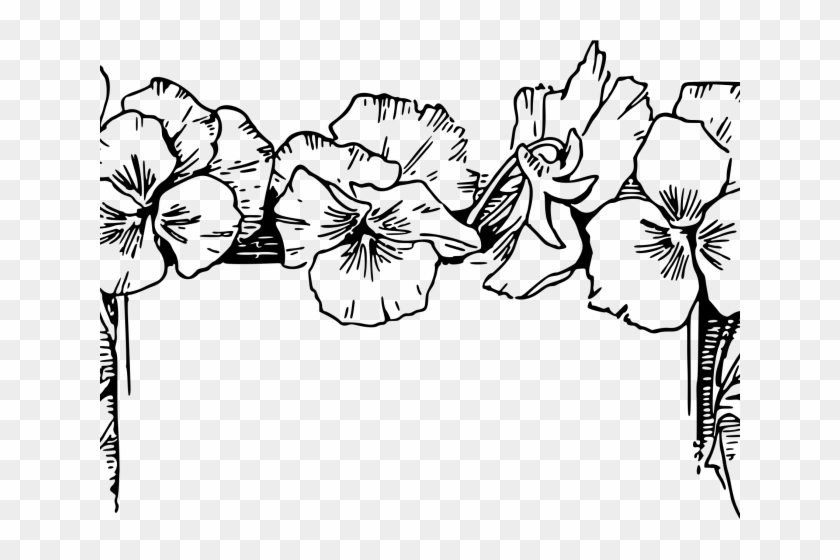 Flower Border Line Drawing - Flowers Healthy