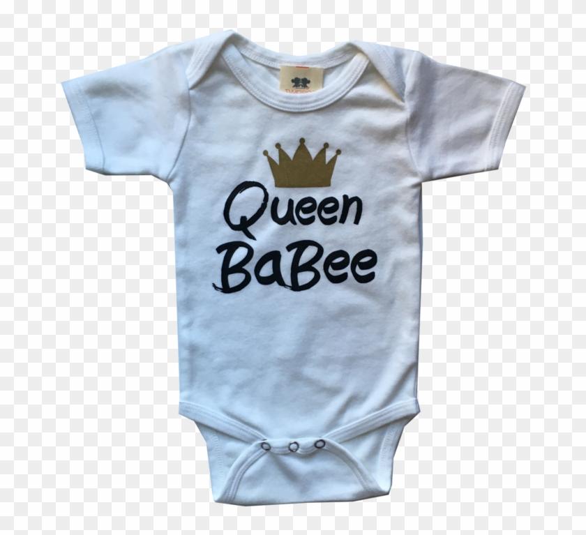 545d130ee Queen Babee White Short Sleeve Cotton Interlock Onesie - Active Shirt, HD  Png Download