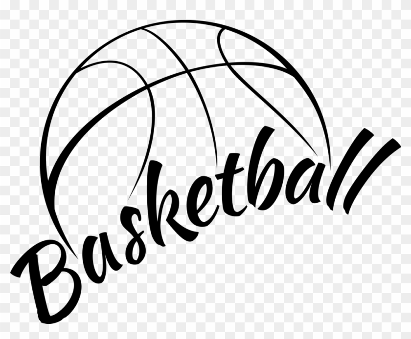 Basketball Black And White Clipart - Black And White