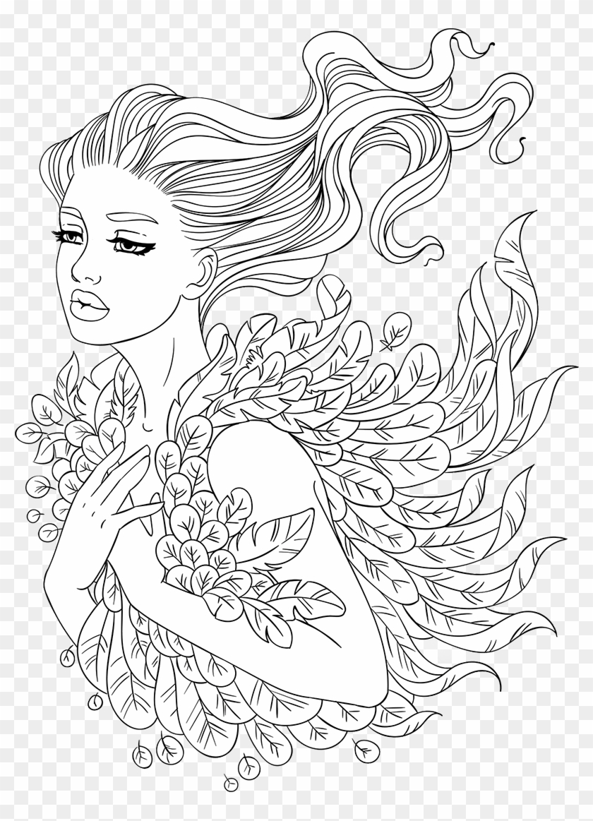 Free Adult Coloring Pages - Artsy Coloring Pages, HD Png ...