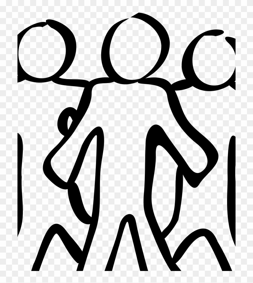 Team Sketch Erich Schube - Free Black And White Clipart Person, HD
