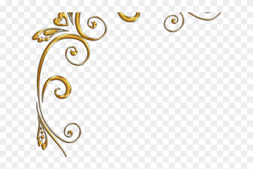 Golden Clipart Gold Corner Gold Swirl Design Png Hd Transparent Png 640x480 4060060 Pngfind