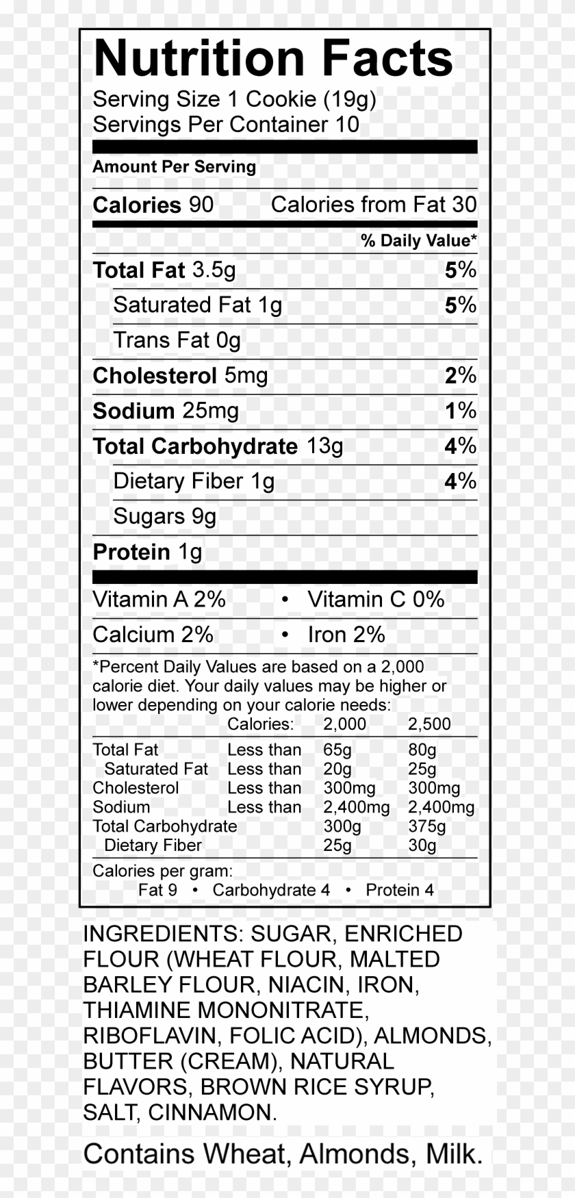 Rice Krispies Cereal Nutrition Facts, HD Png Download ...
