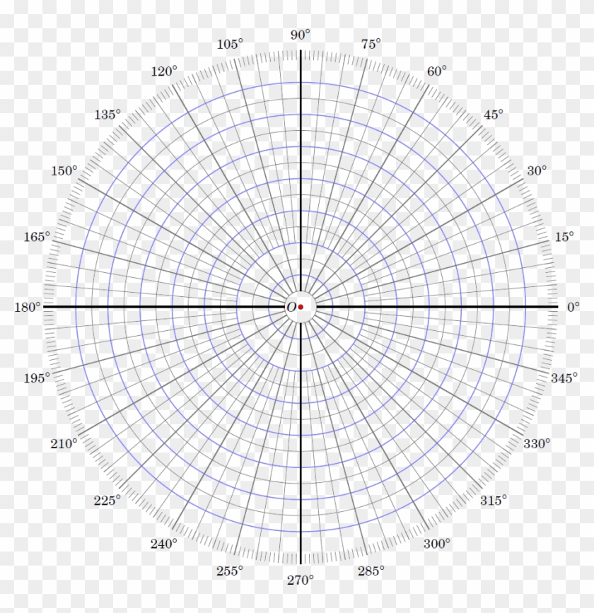 image relating to Polar Graph Paper Printable named Polar Coordinate Graph Paper Printable 163797 - Circle, High definition