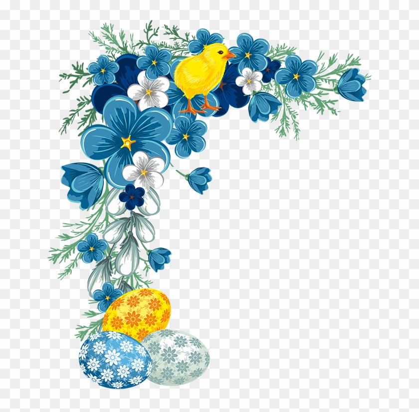 Png Flores Blue Flower Corner Png Transparent Png 650x747