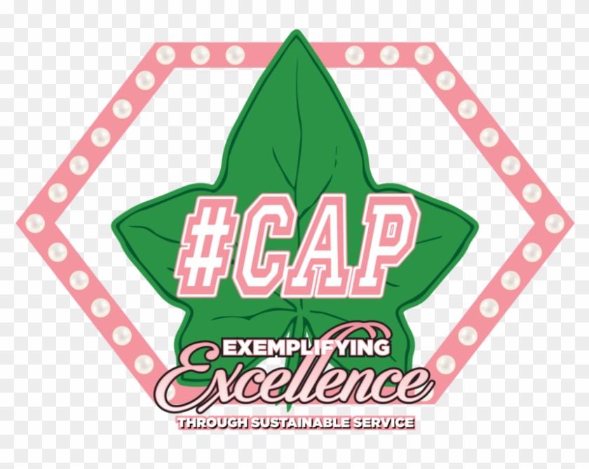 17b95e04ee cap Program Logo, Features A Stylized Ivy Leaf With - #cap Alpha ...