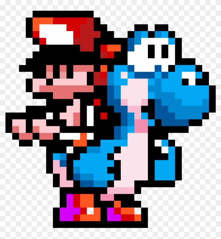 Baby Mario Riding Yoshi Yoshi S Island Blue Yoshi Hd Png Download 1184x1184 4109031 Pngfind