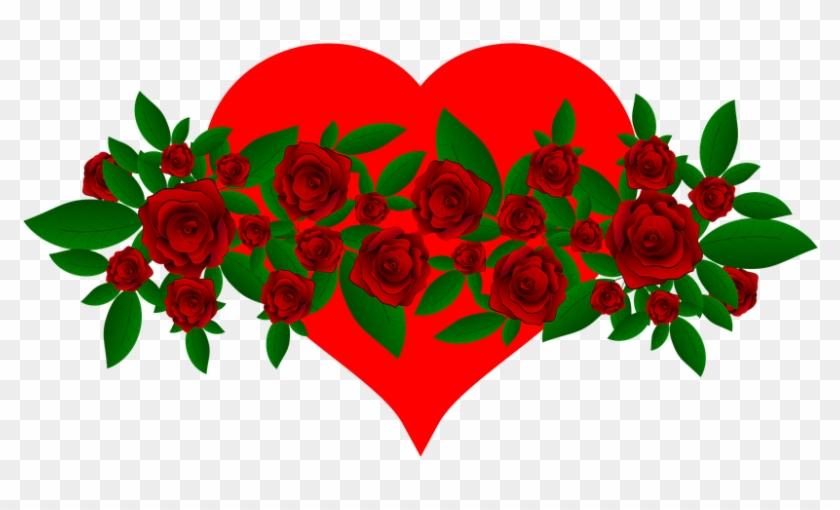 Flowers Heart Red Green Leaves Roses Rose Good Morning Flower Hd
