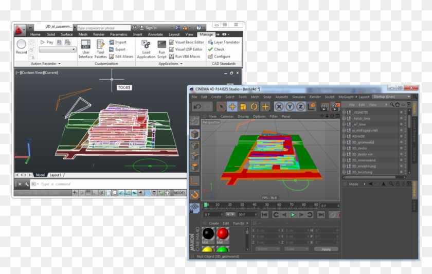 Export Your Work From Autocad To Cinema 4d - Export Autocad