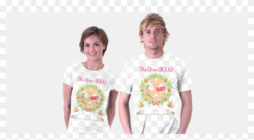 7d4998c58 tis Over 9000 Teefury - T Shirt, HD Png Download - 960x485(#4137392 ...
