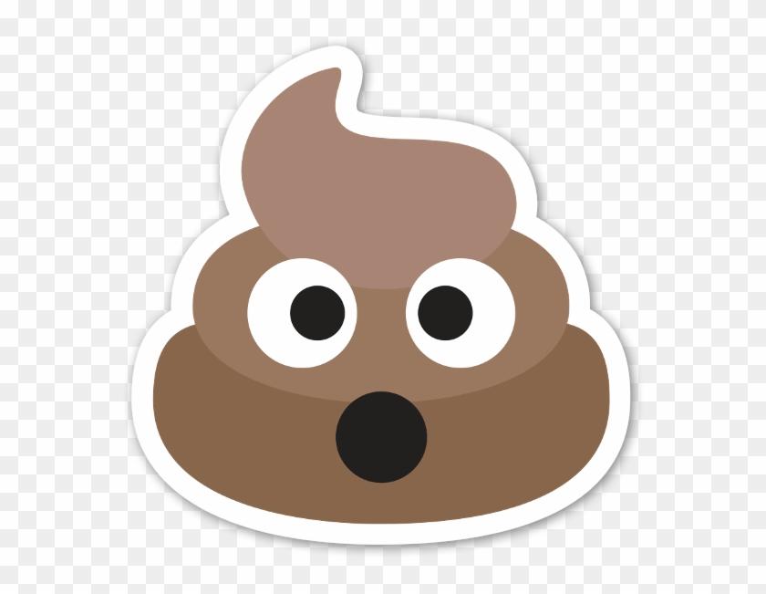 Caca Pegatina Shocked Poop Emoji Hd Png Download