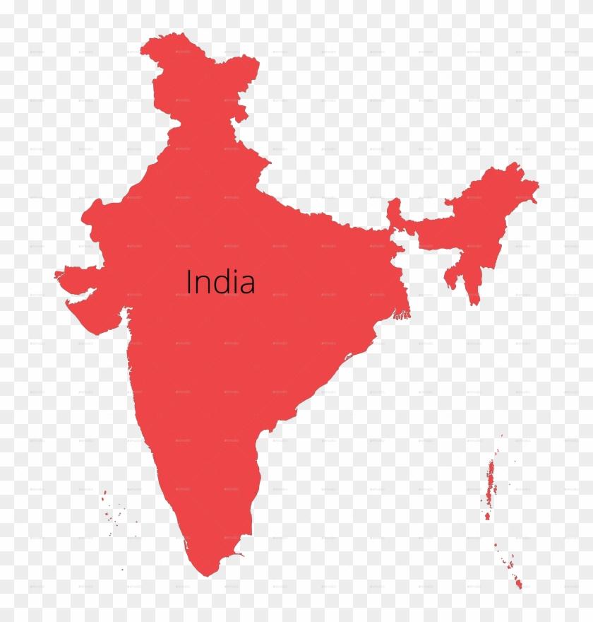 India Map Outline Redcolor - Rajiv Gandhi International ...